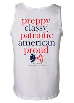 Ladies 'Preppy, Patriotic, Proud' Tank Top – United Tees