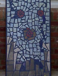 Water Lillies mosaic art ceramic