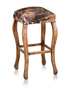 OFF Horizon Furniture Woodbase Cowhide Barstool Leather Furniture, Unique Furniture, Furniture Decor, Furniture Design, Cow Decor, Log Cabin Homes, Home Remodeling, Bar Stools, Home Goods