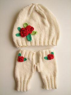 3ebd8dceb9e Items similar to BIG SALE Crochet Rose Hat Gloves Handmade Soft Warm Rose Hat  Gloves Set Beret Gloves Set Knitted Crochet Beret Gloves Set Gift for her  on ...