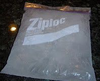 Going camping and want to keep your food cold and not have to keep buying ice?  I buy gallon and quart size ziplock bags, fill them 3/4 full, make sure there is no air in them and freeze them 2-3 days before we go camping.  Place the gallon ziplocks flat on the bottom of cooler, quart size on top or between food - it lasts a very long time and CHEAP!!  Never buy ice again!!