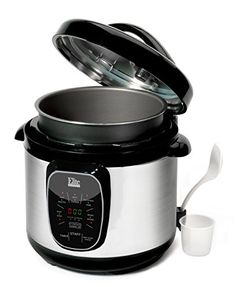 Elite Platinum EPC-807 Maxi-Matic 8 Quart Electric Pressure Cooker, Stainless Steel // http://cookersreview.us/product/elite-platinum-epc-807-maxi-matic-8-quart-electric-pressure-cooker-stainless-steel/  #cooker #pressure #electric