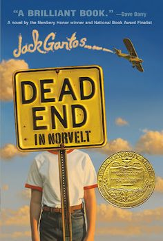 #AWBReadingChallenge Dead End in Norvelt by Jack Gantos as reviewed by Bookwormlet
