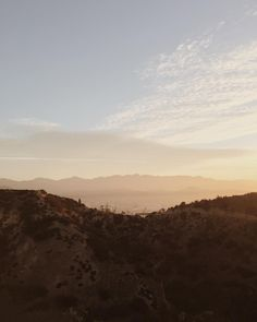 sunrise in griffith park.