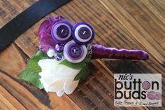 white & purple corsage / buttonholes