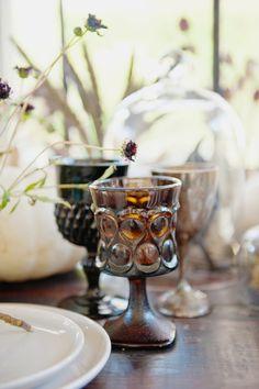 TWINK + SIS HALLOWEEN DINNER PARTY — Twink + Sis #tablescape #borrowedblu #goblet