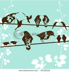 birds on a wire inspiration