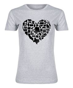 Take a look at this Athletic Heather States Heart Fitted Tee today!