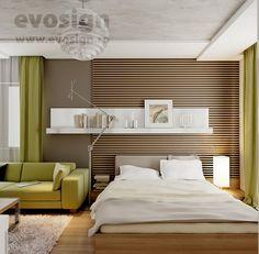 Amenajare Dormitor + Living Living, Interior Design, Bedroom, Furniture, Home Decor, Nest Design, Decoration Home, Home Interior Design, Room Decor
