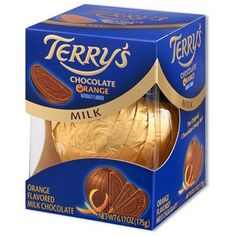 Terry's Milk Chocolate Orange is a little piece of heaven.... and a work of chocolate art all on its own - unique, and there's NEVER enough!!! :))