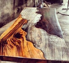 #Wood table. Wow. More