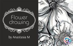 Рисуем цветочный принт |  Flower drawing lineart  #anastasiamatiash #flowerdrawing #lineart #flowers #roses #poppy #watercolors #bw #цветы #рисунок #art #drawing