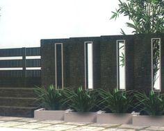 31 Best Desain Model Pagar Tembok Minimalis Modern Elegan Images