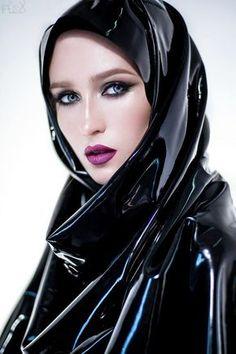 Image of: Latex for hijab Latex Wear, Latex Dress, Latex Outfit, Mode Latex, Latex Hood, Latex Fashion, Fashion Goth, Rain Wear, Model Mayhem