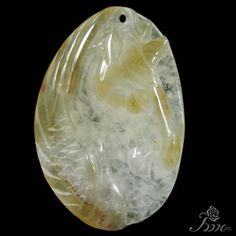JEWELRY ACCESSORY PENDANT HAND CARVED UNICORN  NATURAL AGATE BEAD  M00121 #ZL