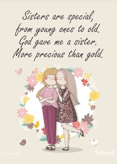 Love You Dad, What Is Love, Give It To Me, Sister Friends, Best Friends, Birthday Msgs, Sister Crafts, Sisters Forever, Special Words