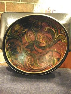 great rosemaled bowl
