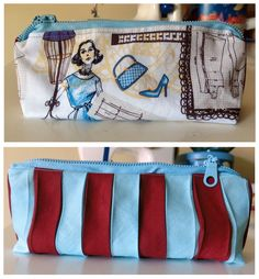 Casing for the paintings, made with bies: Tuto + Pattern. Estuche al bies: Tutorial + Patrón