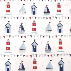 Maritime Fabric for Nursery Chair (if a boy) Nautical Art, Nautical Fashion, Nautical Style, Wendy House, Textiles, Pretty Wallpapers, Waterproof Fabric, Haberdashery, Soft Furnishings