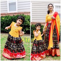 Pochampally ikkat pattu sarees directly from weavers Pochampally pure handloom pattu sarees Mom Daughter Matching Dresses, Mom And Baby Dresses, Dresses Kids Girl, Kids Frocks Design, Baby Frocks Designs, Kids Dress Wear, Kids Gown, Kids Blouse Designs, Dress Designs