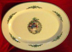 Holly Joy Stoneware Oval Serving Platter by Pfaltzgraff - Christmas