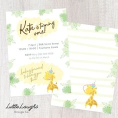 Hey, I found this really awesome Etsy listing at https://www.etsy.com/uk/listing/595873395/little-giraffe-birthday-invitation-2