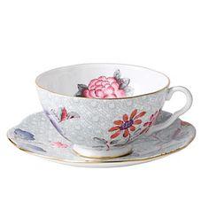 """Wedgwood """"Cuckoo"""" Tea Story Tea Cup & Saucer, Green  """