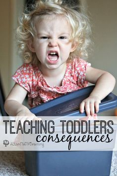 Teaching toddlers consequences for their choices and actions | ALLterNATIVElearning.com Parenting Styles, Parenting Toddlers, Parenting Books, Parenting Advice, Toddler Behavior, Toddler Discipline, Toddler School, Peaceful Parenting, Infant Activities