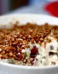 Grape salad.   Use fat free sour cream and light cream cheese