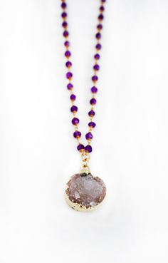 DRUZY coin rosary necklace by shopkei on Etsy