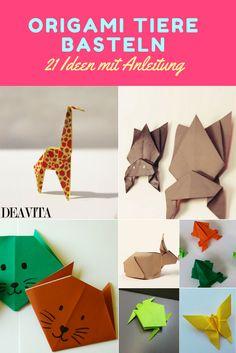 Das beste am Origami ist, dass Sie außer Papier nichts weiter benötigen. Die Figuren entstehen nämlich durch einfaches Falten. Wir zeigen Ihnen einige tolle Anleitungen, mit denen Sie witzige Origami Tiere basteln können. Da werden sogar Ihre Kinder Spaß haben und sich über das fertige Endprodukt freuen.