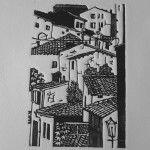 Italian Town, Di Oliver, Linoleografia