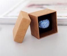 Packaging Box Bracelet Necklace Ring Jewelry Box Zakka Kraft Paper box Fashion Finger Ring Jewelry box 5*5*3.8cm 50pcs/lot #Affiliate