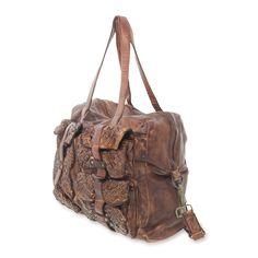 55ad08a139c8d edele vintage Shabby chic Leder Tasche  io.Io.Mio  Leder  Vintage  Shopper   A4 kostenloser Versand