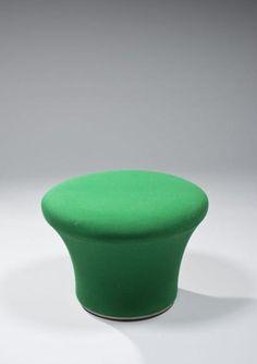 Pierre Paulin; 'Mushroom' Footstool for Artifort, c1960.