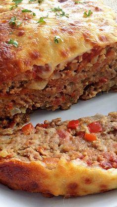 Italian-Style Meatloaf Recipe Meatloaf Recipes, Meat Recipes, Chicken Recipes, Cooking Recipes, Cooking Pasta, Amish Recipes, Dutch Recipes, Hamburger Recipes, Pasta Recipes