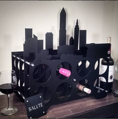 Cleveland Skyline Wine Rack from the Valerie Tyler Collection  © 2015 James Tyler