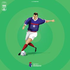 Homenagem à alguns dos destaques da copa de 1998 na França.