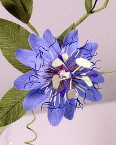 Passionflower, details. I've learned that even the most complex structures are made up of layers of very simple elements. It's just a matter of breaking them down and taking time to reconstruct them. This is my best work to date.  #passionflower #papetal #dsfloral