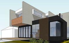Prebuilt In Progress - Sydney Prefab Home Elevation 3 Bondi House