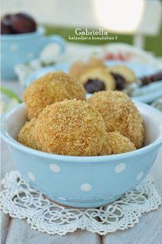 Gabriella kalandjai a konyhában :): Szilvalekváros gombóc vagy szilvás gombóc Muffin, Breakfast, Food, Morning Coffee, Essen, Muffins, Meals, Cupcakes, Yemek