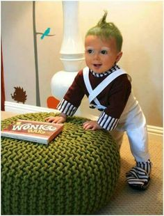 """Ridiculous Baby Halloween Costumes: Epic Fail or Parenting Win? – Hallie Troutman Ridiculous Baby Halloween Costumes: Epic Fail or Parenting Win? """"oompa loompa, do-ba-dee-doo…"""" baby halloween costume Costume Halloween Bebe Garcon, Oompa Loompa Halloween Costume, Funny Baby Halloween Costumes, Halloween Costumes For Toddlers, Funny Toddler Costumes, Halloween Costumes For Babies, Cute Kids Halloween Costumes, Babies In Costumes, Scary Costumes"""