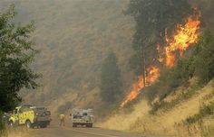PHOTOS: Flames charge across dry Washington Wildland Firefighter, Volunteer Firefighter, Fire Tornado, Wild Fire, Washington State, Old Things, Country Roads, Firefighting, World