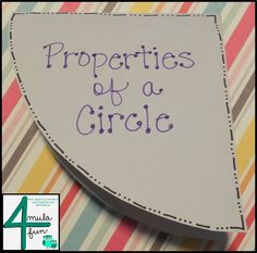 Properties of A Circle and a FREEBIE