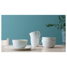 IKEA - OFANTLIGT, Bowl, white, OFANTLIGT dinnerware is a modern classic with elegant features and a color that makes it easy to combine with other porcelain. Wash this product before using it for the first time. Four Micro Onde, White Plates, White Bowl, Ceramic Tableware, Elegant, Modern Classic, Dinnerware, Simple, Design
