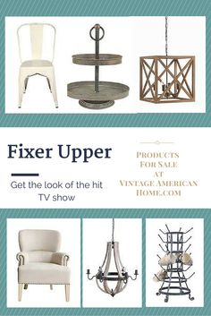 Get the same or similar products as Fixer Upper TV show to decorate your home at vintage American Home.com