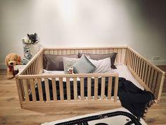 Birch Hardwood BED US Full Size Montessori toddler Frame bed Wood Kids Baby bed Nursery bed Platform bed Children furniture, bed frame