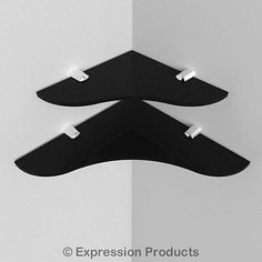 Expression Products Small Acrylic Corner Safety Shelf Black 150mm approx 6