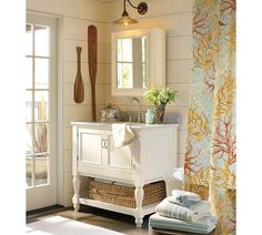 pottery barn bathroom  beachy but not overly done