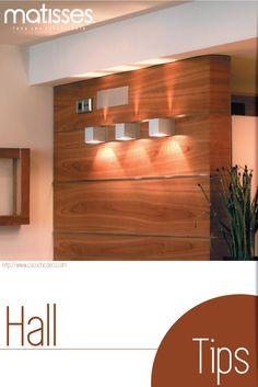 #TipsDecor: Para que el #hall del hogar sea iluminado utiliza apliques de pared con luz propia.